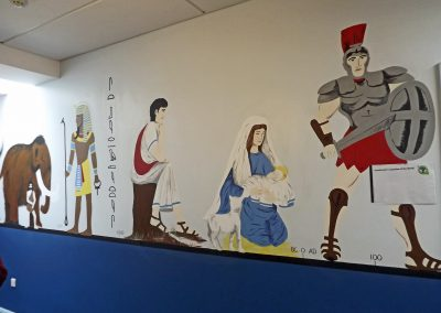 history mural for school