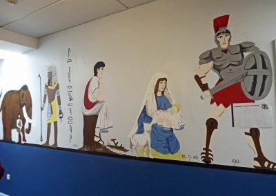 history mural for school