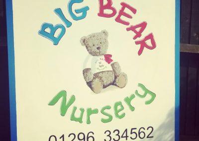 Image of big bear day nursery sign aylesbury