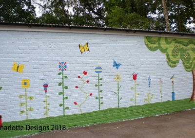 numeracy and literacy playground mural