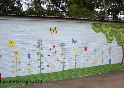 numeracy and literacy playground mural