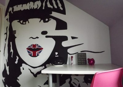 Jessie J mural for teenage girl