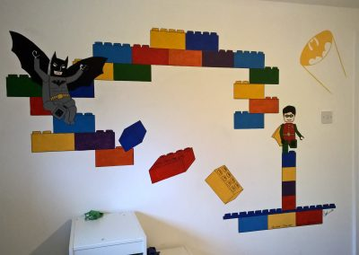 Image of lego batman mural