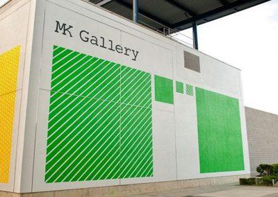 exterior mural on milton keynes gallery