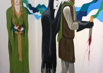 Macbeth mural for school corridor