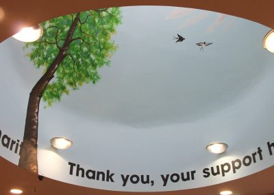 Image of tree mural for forest charity