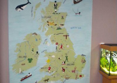 UK map mural
