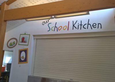 School canteen wall art