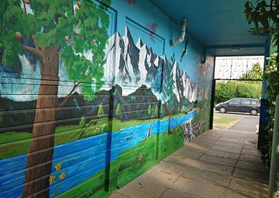 catholic primary school mural