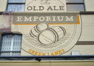 Image of exterior mural for old ale emporium
