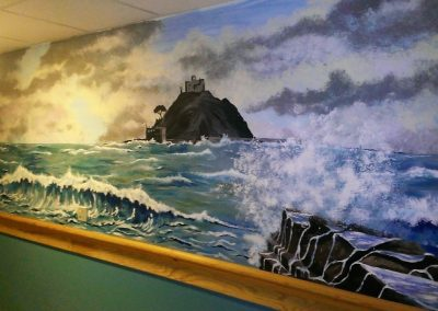 Image of mural of St Michael's mount