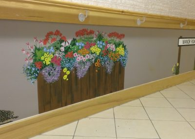 Image of flowers and animal mural