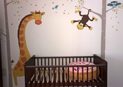 Image of jungle nursery mural