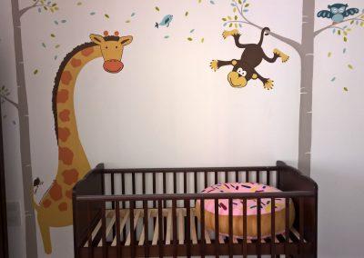 Image of jungle nursery mural