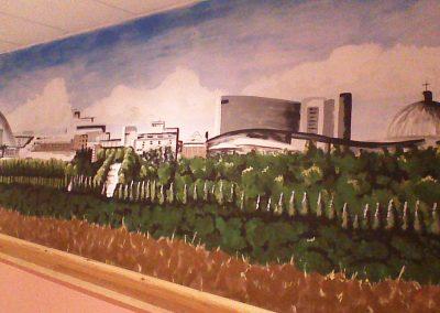 Image of Milton Keynes skyline mural