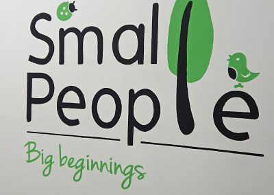 Image of Small People day nursery sign