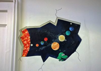 Image of space mural with alien