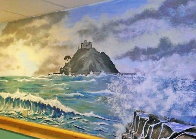 St Michael's mount mural for care home