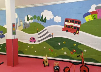 Image of Transport mural for day nursery