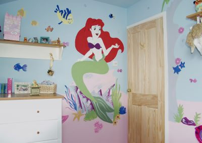 Image of Ariel little mermaid bedroom mural