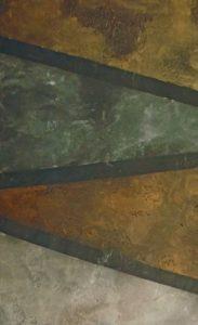 Faux stone with metallic finish