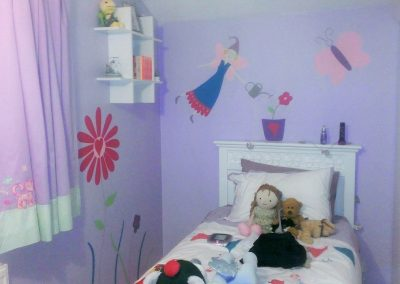 Image of Fairy mural for gilrs bedroom