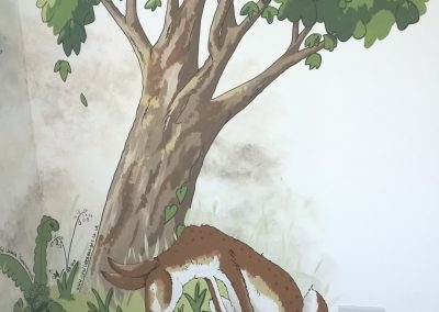 Guess how much nursery mural