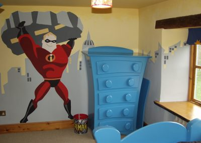 Image of Mr Incredible mural