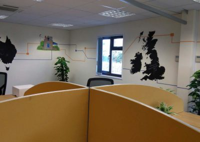 Image of Office murals for Plancast