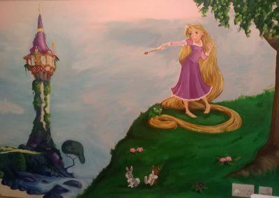 Rapunzel mural
