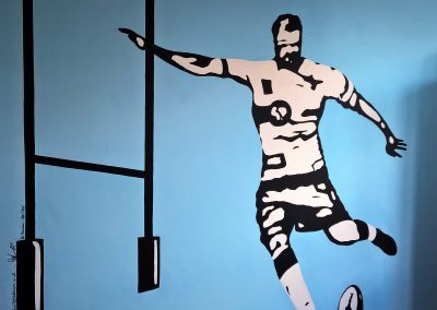 Image of boys rugby sports mural