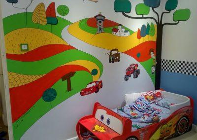 Image of boys transport mural