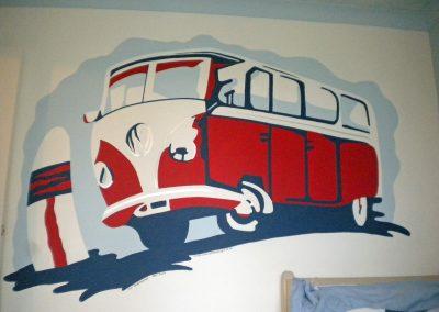 Image of vw camper cool mural