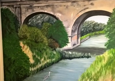 Image of virgin trains and viaduct transport mural