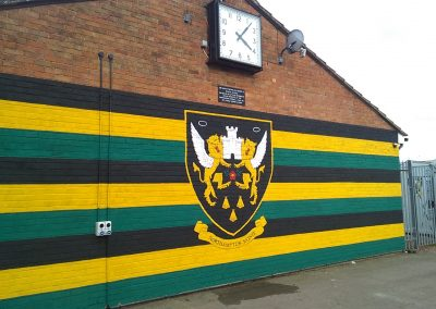 Image of Northampton Saints mural at Franklins Gardens