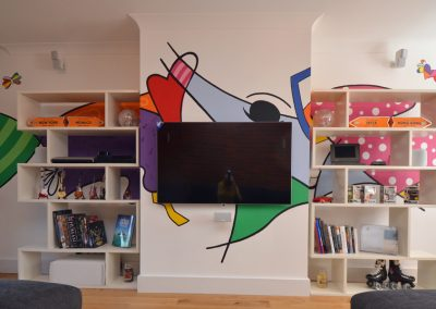 Britto inspired mural