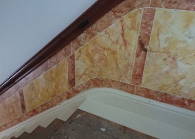 Image of Faux marble paneling
