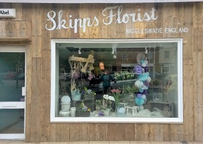 Image of skipps florist hand painted sign