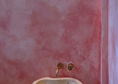 Distressed plaster wall