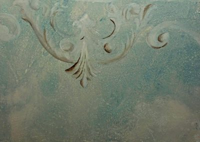 distressed plaster work
