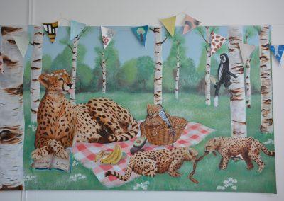 Image of cheetah painting
