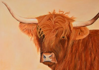 Image of highland cow painting