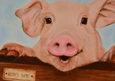 Image of a pig painting
