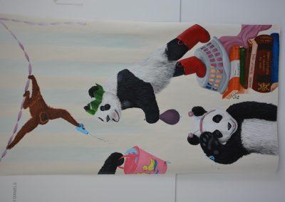 Image of a large panda canvas