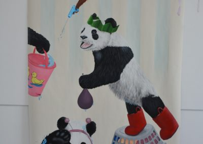 large panda canvas