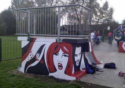 Towcester Skatepark mural