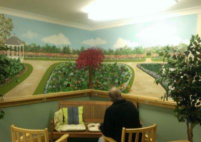 garden mural for care home