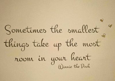 handpainted AA Milne quote