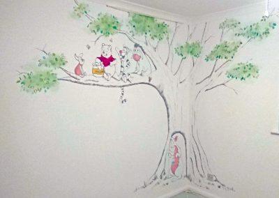 Winnie the Pooh sketched nursery