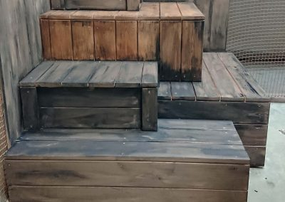 aged wooden crates